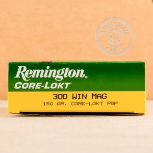 Picture of 300 WIN MAG REMINGTON CORE-LOKT 150 GRAIN PSP (20 ROUNDS)