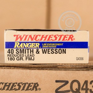Picture of 40 S&W WINCHESTER RANGER REDUCED LEAD 180 GRAIN FMJ (500 ROUNDS)
