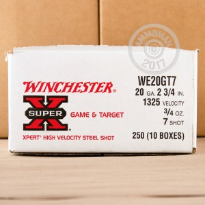 "Picture of 20 GAUGE WINCHESTER SUPER-X 2-3/4"" #7 STEEL SHOT (25 ROUNDS)"