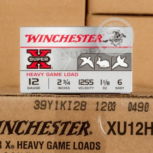 "Picture of 12 GAUGE WINCHESTER SUPER-X HEAVY GAME LOAD 2 3/4"" 1 1/8 OZ. #6 SHOT (25 ROUNDS)"