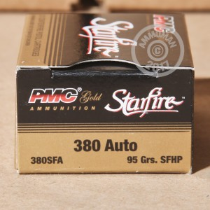 An image of .380 Auto ammo made by PMC at AmmoMan.com.