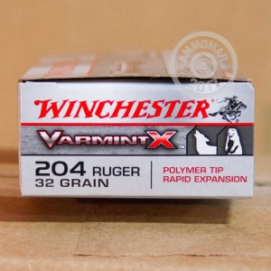 Picture of 204 RUGER WINCHESTER VARMINT-X 32 GRAIN PT (20 ROUNDS)