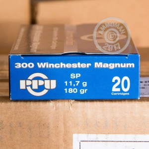 Picture of 300 WIN MAG PRVI PARTIZAN 180 GRAIN SP (20 ROUNDS)