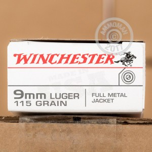 Picture of 9MM LUGER WINCHESTER 115 GRAIN FMJ (500 ROUNDS)
