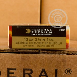 "Picture of 12 GAUGE FEDERAL TACTICAL LE HYDRA-SHOK 2-3/4"" 1 OZ. RIFLED SLUG (5 ROUNDS)"