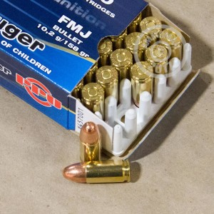 Picture of 9MM LUGER PRVI PARTIZAN 158 GRAIN FMJ (50 ROUNDS)