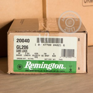 "Picture of 20 GAUGE REMINGTON GAME LOAD 2-3/4"" #6 SHOT (250 ROUNDS)"