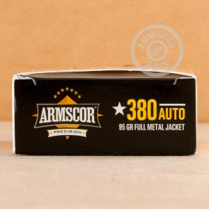 Picture of 380 ACP ARMSCOR 95 GRAIN FMJ (1000 ROUNDS)