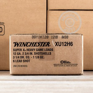 "Picture of 12 GAUGE WINCHESTER SUPER-X 2-3/4"" 1-1/8 OZ. #6 SHOT (250 ROUNDS)"