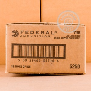 Picture of 22 LR FEDERAL 36 GRAIN COPPER PLATED HOLLOW POINT (525 ROUNDS)