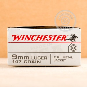 Picture of 9MM LUGER WINCHESTER TRAIN & DEFEND 147 GRAIN FMJ (500 ROUNDS)