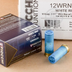 "Picture of 12 GAUGE FIOCCHI WHITE RINO 2-3/4"" #8 SHOT (250 ROUNDS)"
