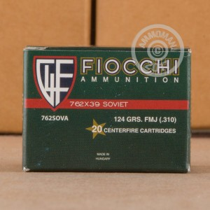 Picture of 7.62X39 FIOCCHI 124 GRAIN FMJ (20 ROUNDS)