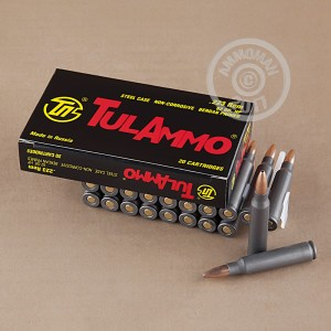 Picture of 223 REMINGTON TULA 62 GRAIN HP (20 ROUNDS)