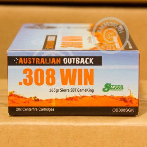 Picture of 308 WINCHESTER ADI AUSTRALIAN OUTBACK 165 GRAIN SP (20 ROUNDS)