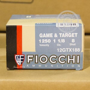 "Picture of 12 GAUGE FIOCCHI TEXAS DOVE 2-3/4"" 1-1/8 OZ. #8 SHOT (25 ROUNDS)"