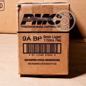Picture of 9MM PMC 115 GRAIN FULL METAL JACKET BATTLE PACK (300 ROUNDS)