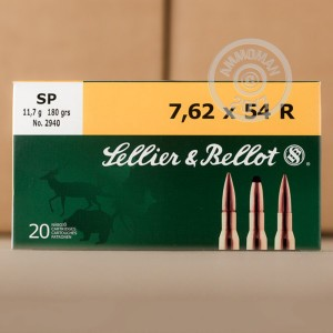 Picture of 7.62X54R SELLIER & BELLOT 180 GRAIN SP (20 ROUNDS)