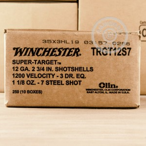 "Picture of 12 GAUGE WINCHESTER SUPER TARGET STEEL 2-3/4"" #7 SHOT (25 ROUNDS)"