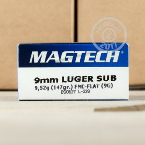 Picture of 9MM LUGER MAGTECH 147 GRAIN FMC (50 ROUNDS)