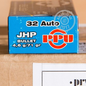 Picture of 32 ACP PRVI PARTIZAN 71 GRAIN JHP (1000 ROUNDS)