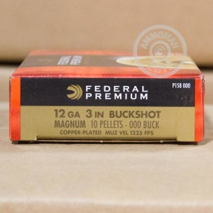 "Picture of 12 GAUGE FEDERAL VITAL-SHOK 3"" 000 BUCK (5 SHELLS)"