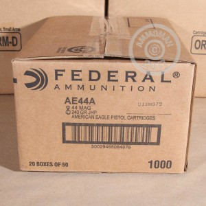 Picture of .44 REMINGTON MAGNUM FEDERAL AMERICAN EAGLE 240 GRAIN JHP (50 ROUNDS)