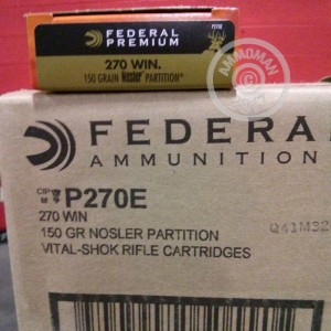 Picture of 270 WINCHESTER FEDERAL VITAL-SHOK 150 GRAIN NOSLER PARTITION (20 ROUNDS)