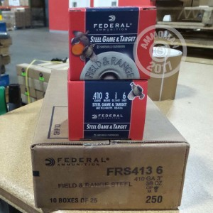 "Picture of 410 GAUGE FEDERAL STEEL GAME & TARGET 3"" 3/8 OZ. #6 SHOT (25 ROUNDS)"