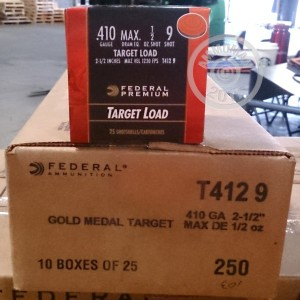 "Picture of 410 BORE FEDERAL GOLD MEDAL 2-1/2"" #9 SHOT TARGET LOAD (25 ROUNDS)"