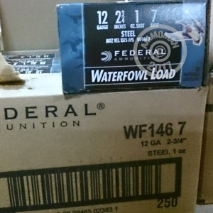 "Picture of 12 GAUGE FEDERAL STEEL SHOT WATERFOWL 2-3/4"" #7 SHOT (250 ROUNDS)"