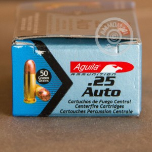 Picture of .25 ACP AGUILA 50 GRAIN FMJ (50 ROUNDS)