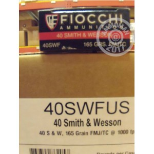 Picture of 40 S&W FIOCCHI PISTOL SHOOTING DYNAMICS 165 GRAIN FMJ-TC (50 ROUNDS)