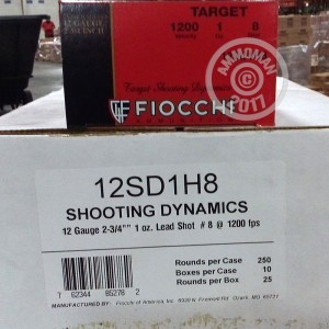 "Picture of 12 GAUGE FIOCCHI TRAP AND SPORTING 2-3/4"" #8 SHOT (250 SHELLS)"