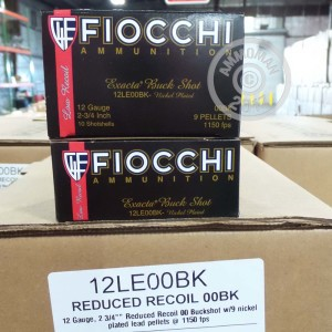 "Picture of 12 GAUGE FIOCCHI LAW ENFORCEMENT REDUCED RECOIL 2 3/4"" 00 BUCK (10 ROUNDS)"