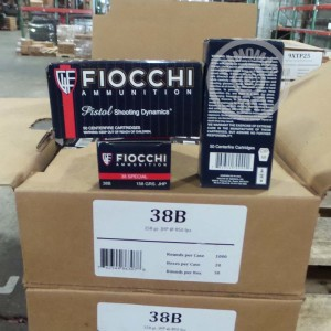 Picture of 38 SPECIAL FIOCCHI 158 GRAIN JHP (1000 ROUNDS)