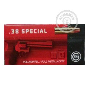 Picture of 38 SPECIAL GECO 158 GRAIN FMJ (50 ROUNDS)