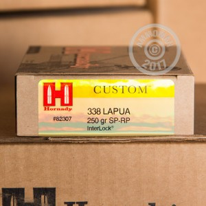 Picture of 338 LAPUA HORNADY CUSTOM 250 GRAIN SOFT POINT (20 ROUNDS)
