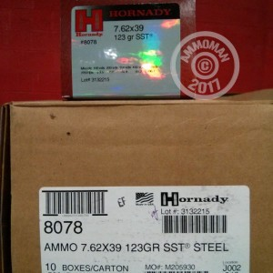 Picture of 7.62X39 HORNADY 123 GRAIN SST POLYMER TIP (50 ROUNDS)