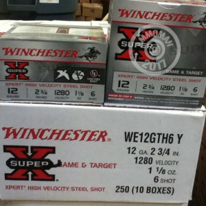 """Picture of 12 GAUGE WINCHESTER SUPER-X 2-3/4"""" #6 STEEL SHOT (250 ROUNDS)"""
