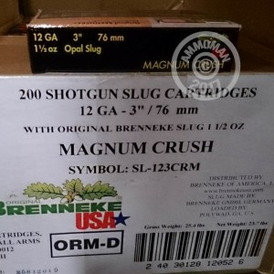 "Picture of 12 GAUGE BRENNEKE MAGNUM CRUSH 3"" 1 1/2 OZ. OPAL SLUG (5 ROUNDS)"