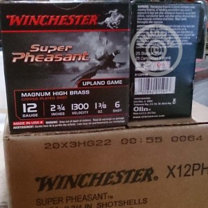 "Picture of 12 GAUGE WINCHESTER SUPER PHEASANT 2-3/4"" 1-3/8 OZ. #6 SHOT (250 ROUNDS)"