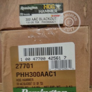 Picture of 300 AAC REMINGTON HOG HAMMER 130 GRAIN TSX (20 ROUNDS)