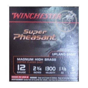 """Picture of 12 GAUGE WINCHESTER SUPER PHEASANT 2-3/4"""" 1-3/8 OZ. #5 SHOT (250 ROUNDS)"""