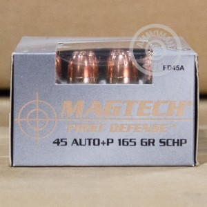 Picture of 45 ACP +P MAGTECH FIRST DEFENSE 165 GRAIN SCHP (20 ROUNDS)