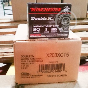 Picture of 20 GAUGE WINCHESTER DOUBLE X 3 INCH 1-1/4 OUNCE # 5 SHOT LEAD (10 ROUNDS)