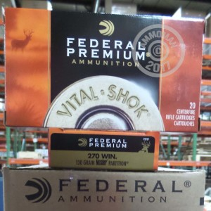 Picture of 270 WIN FEDERAL VITAL-SHOK 130 GRAIN NOSLER PARTITION SP (20 ROUNDS)
