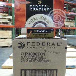 Picture of 30-06 SPRINGFIELD FEDERAL VITAL-SHOK 180 GRAIN TROPHY COPPER (20 ROUNDS)