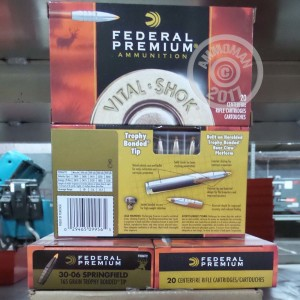 Picture of 30-06 SPRINGFIELD FEDERAL VITAL-SHOK 165 GRAIN TROPHY BONDED TIP (20 ROUNDS)