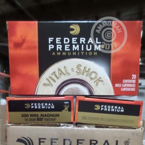 Picture of 300 WIN MAG FEDERAL VITAL-SHOK 165 GRAIN NOSLER PARTITION SP (20 ROUNDS)